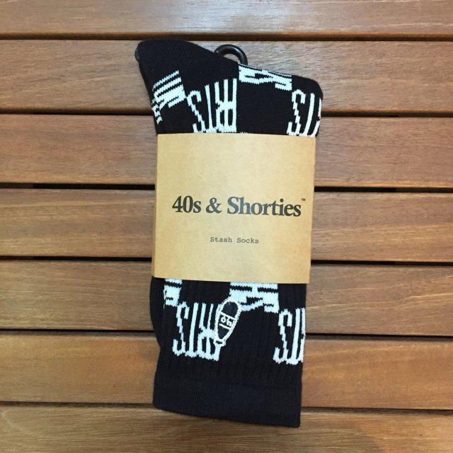 "40S&SHORTIES "" CHECKERBOARD SOCK "" BLACK"