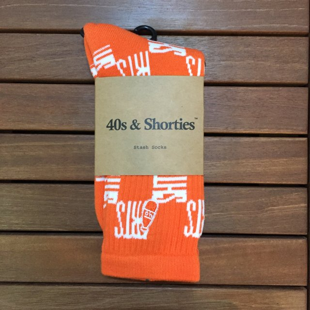 "40S&SHORTIES "" CHECKERBOARD SOCK "" ORANGE"