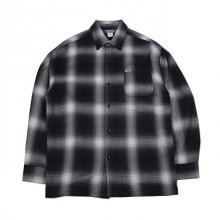 <img class='new_mark_img1' src='//img.shop-pro.jp/img/new/icons1.gif' style='border:none;display:inline;margin:0px;padding:0px;width:auto;' />CALTOP   FL PLAID LONG SHIRT BLACK&IVORY