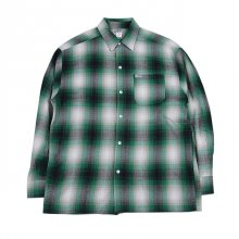 <img class='new_mark_img1' src='//img.shop-pro.jp/img/new/icons1.gif' style='border:none;display:inline;margin:0px;padding:0px;width:auto;' />CALTOP   FL PLAID LONG SHIRT GREEN&WHITE