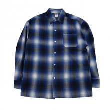 <img class='new_mark_img1' src='//img.shop-pro.jp/img/new/icons1.gif' style='border:none;display:inline;margin:0px;padding:0px;width:auto;' />CALTOP   FL PLAID LONG SHIRT ROYAL BLUE&WHITE