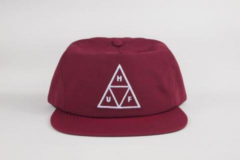 "HUF "" TRIPLE TRIANGLE SNAPBACK CAP "" BURGUNDY/ハフ "" TRIPLE TRIANGLE SNAPBACK CAP &quot"