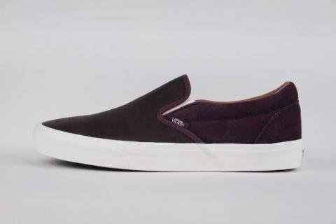 6280f47b6219d9 VANS CLASSIC SLIP-ON CA(TORINO LEATHER)WINETASTING バンズ スリップオン CA - IMART  ONLINE SHOP