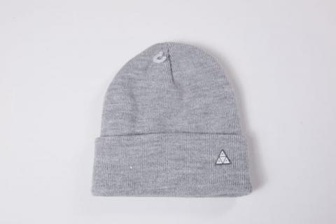 huf triangle service beanie grey heather ハフ triangle