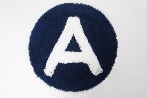 "SECOND LAB "" ALPHABET CHAIR RUG ""A""  NAVY /セカンドラボ "" チェアーラグ """