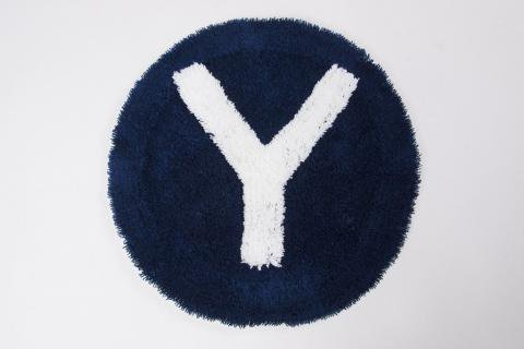 "SECOND LAB "" ALPHABET CHAIR RUG ""Y""  NAVY /セカンドラボ "" チェアーラグ """