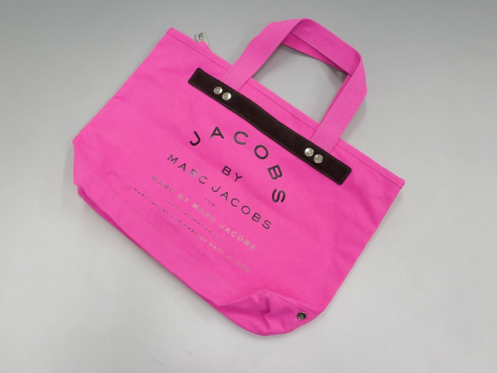 JACOBS  BY MARC JACOBS マークジェイコブス  キャンバストートバッグ pink USED