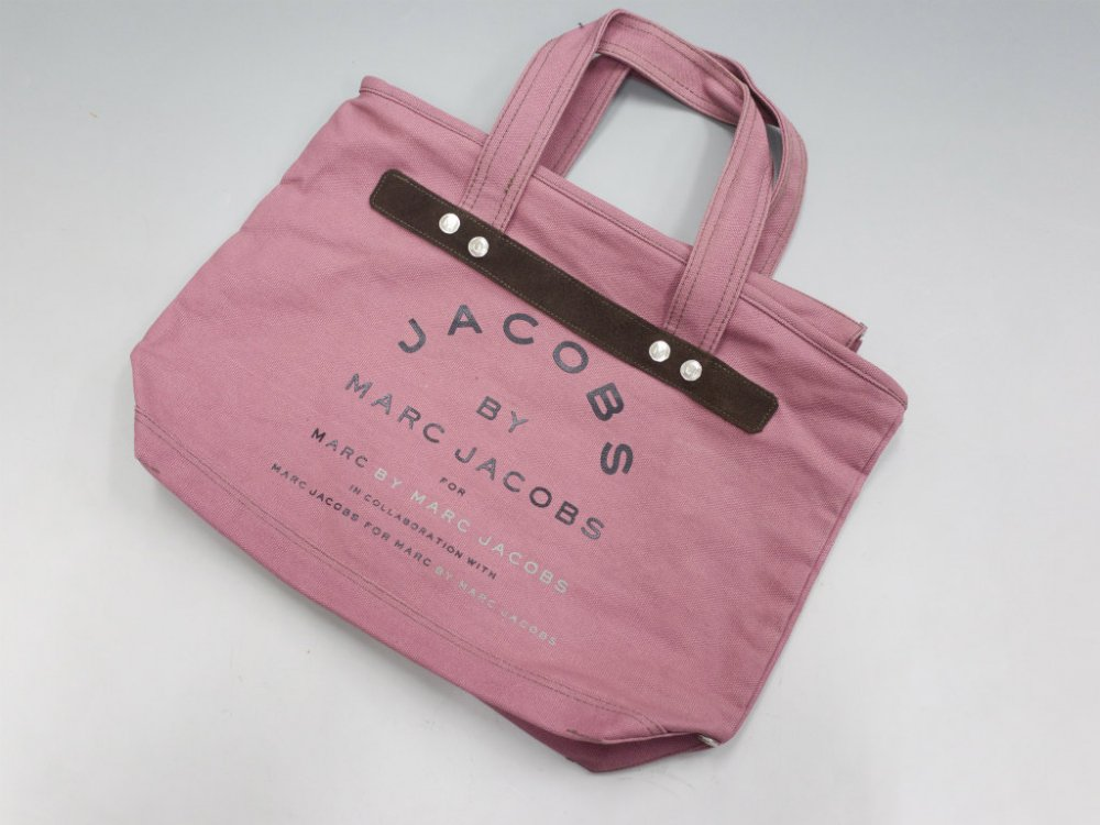 JACOBS  BY MARC JACOBS マークジェイコブス  キャンバストートバッグ pinkbrown USED