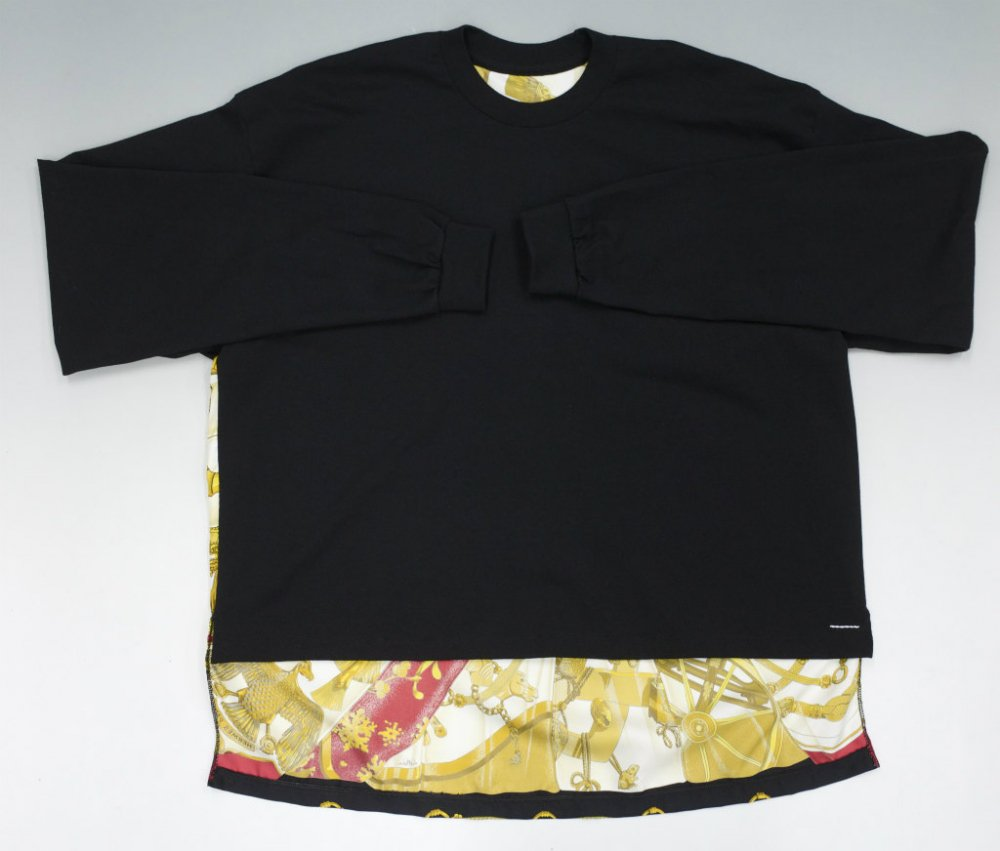 SOTA JAPAN × SEW UP HERMES REMAKE  LONG SLEEVE TEE black
