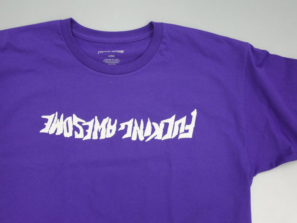 Fucking Awesome  Inverted ロゴ プリント Tシャツ purple white