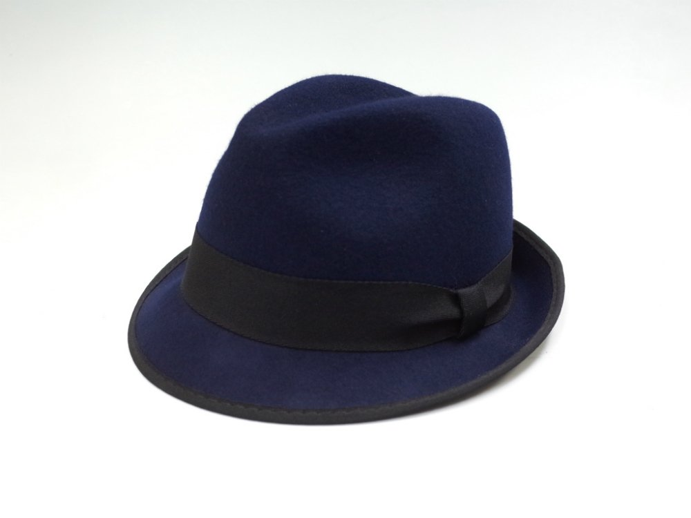 J.CREW  Classic fedora with grosgrain ribbon フェドラハット navy