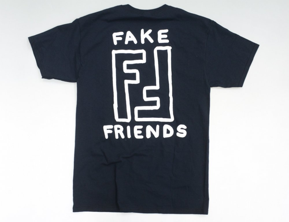 FRIENDS Fake Friends プリント Tシャツ black