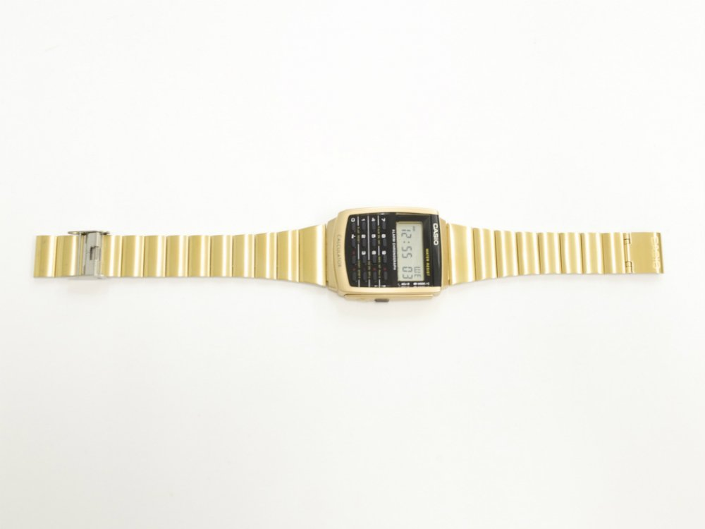 海外限定 CASIO VINTAGE COLLECTION カシオ CALCULATOR 腕時計 gold