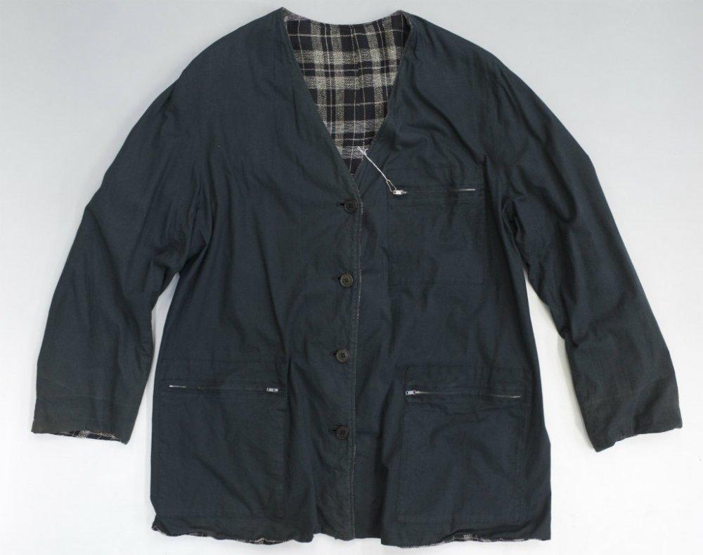 Y's  for men YOHJI YAMAMOTO  リバーシブル ノーカラージャケット MADE IN JAPAN  USED