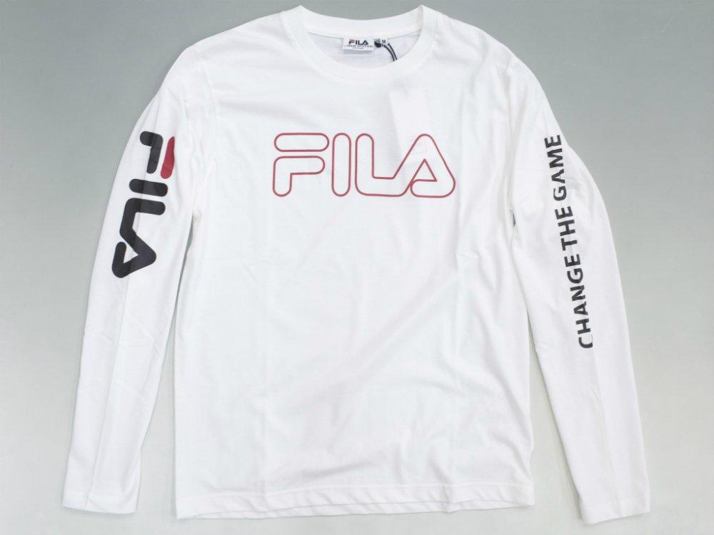 海外限定 店舗別注 FILA フィラ ロゴ ロンングスリーブTシャツ