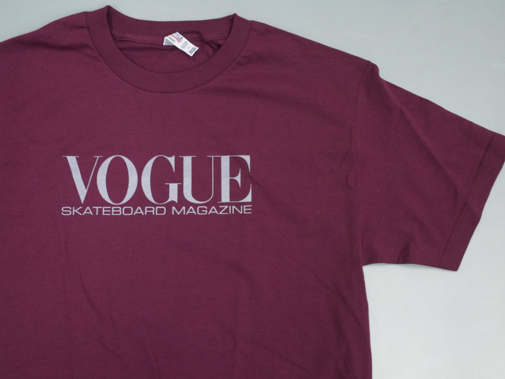別注カラー Dear Skating Vogue Skateboarding Magazine Tシャツ burgandy