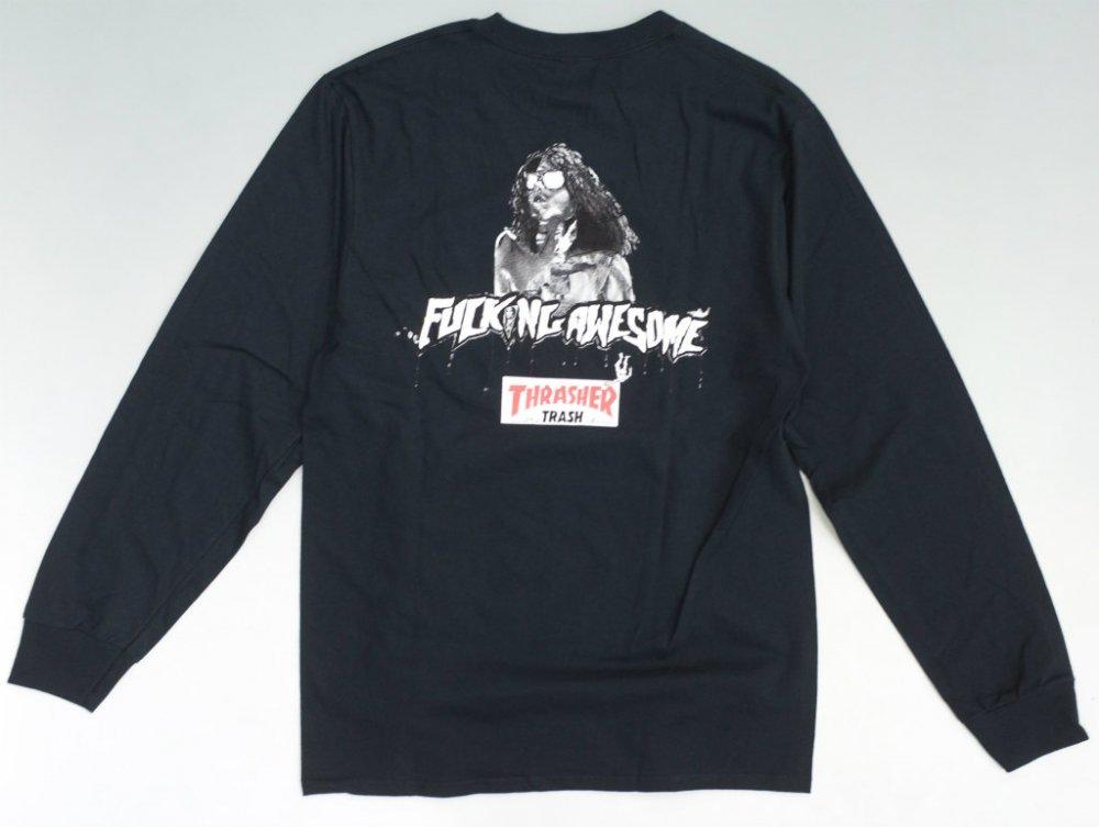 Fucking Awesome x Thrasher Trash Me  ロングスリーブTシャツ black
