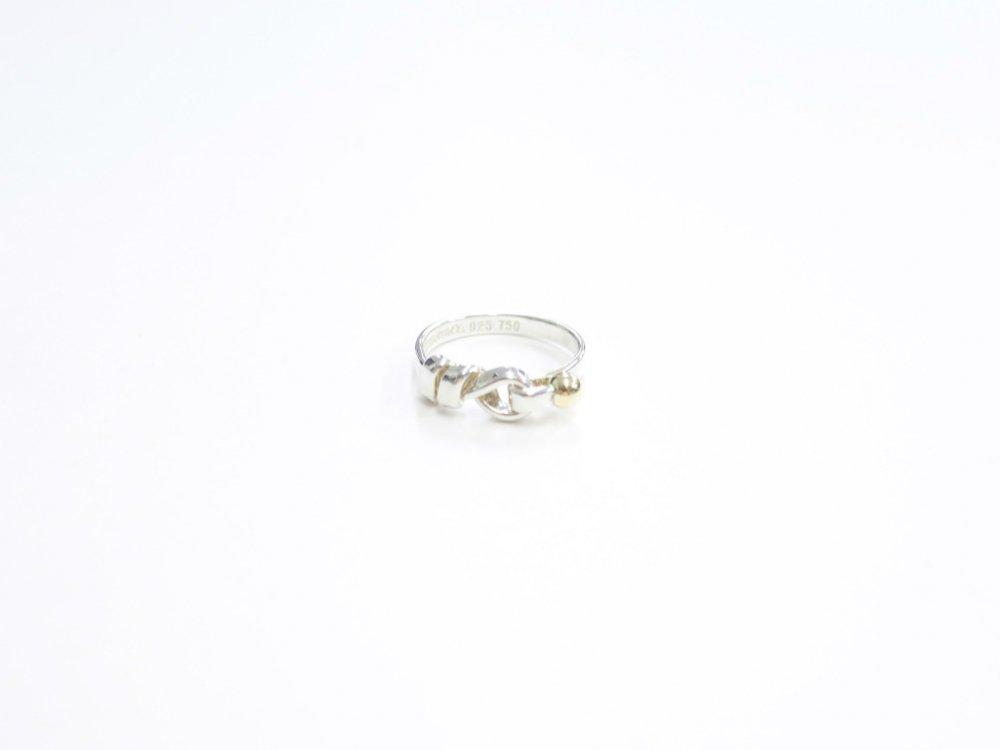 Tiffany & Co  ティファニー  フック&アイ リング 指輪 silver925  18K 750 12号 USED