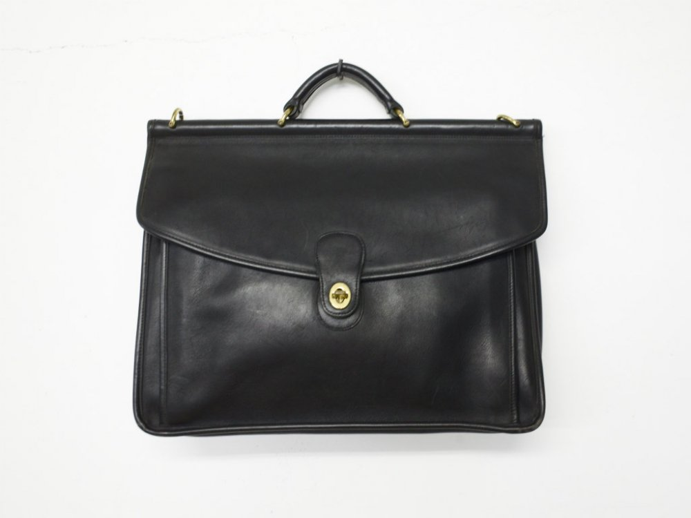 COACH オールド コーチ レザー  ブリーフケース  black  MADE IN USA USED