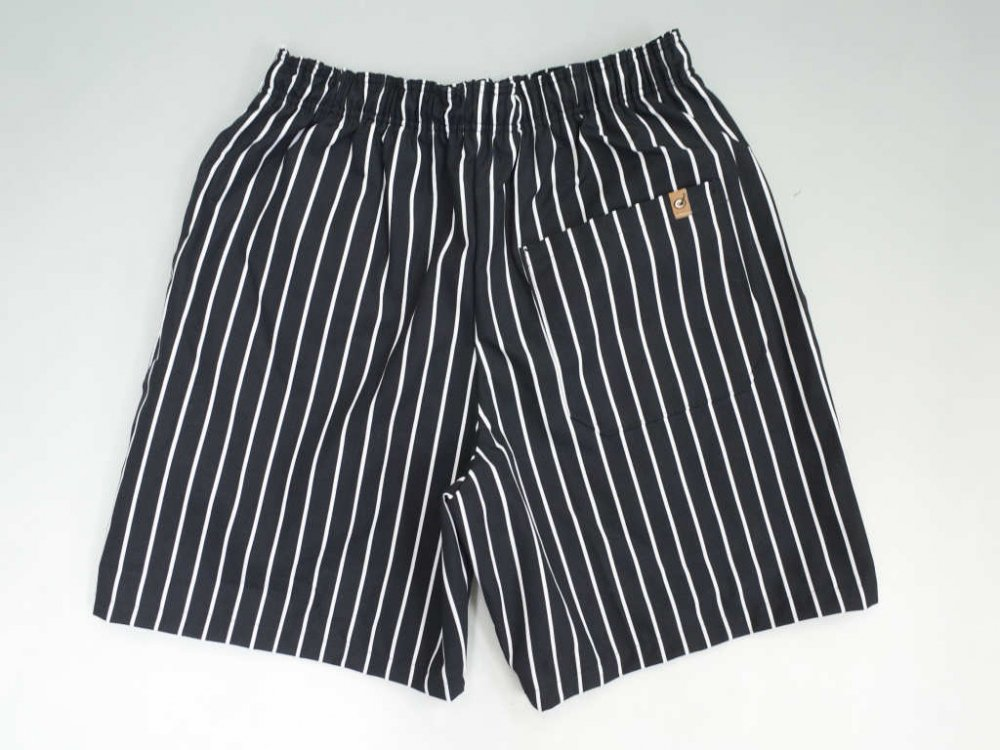 CHEF DESIGNS SPUN POLYESTER BAGGY PANT ストライプ柄 REMAKE ショーツ