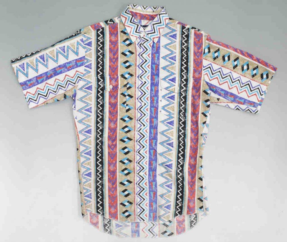 Wrangler ラングラー ネイティブ柄 半袖シャツ USED