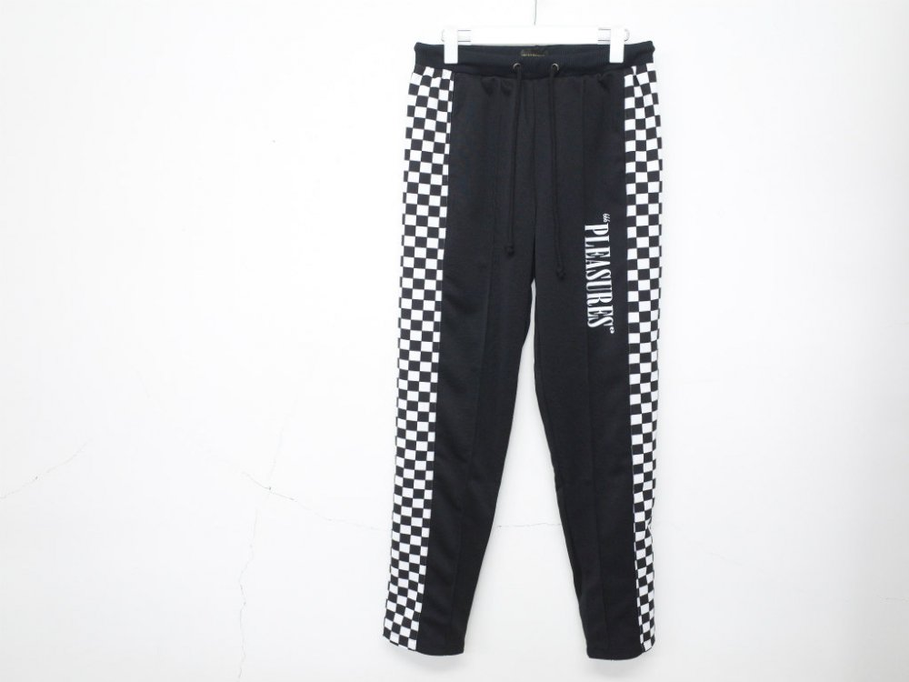 Wiz Khalifa × Pleasures CHECKERED TRACK PANTS black