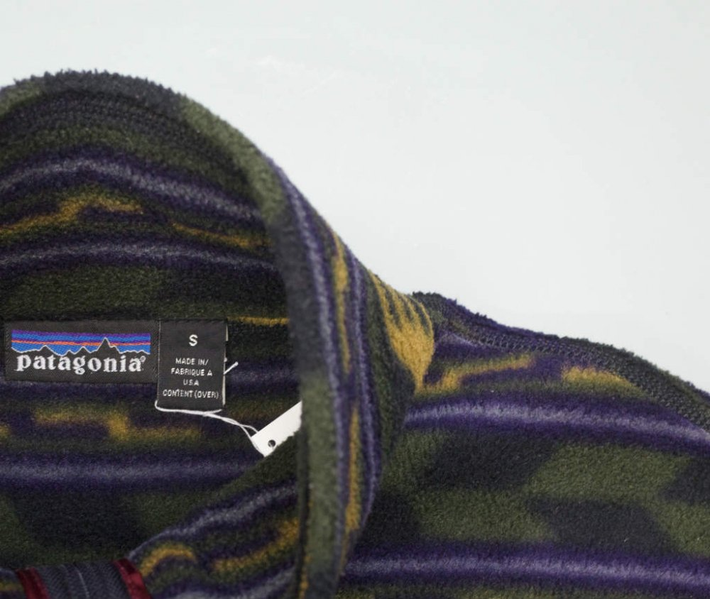 05's patagonia パタゴニア  総柄 フリース MADE IN USA USED