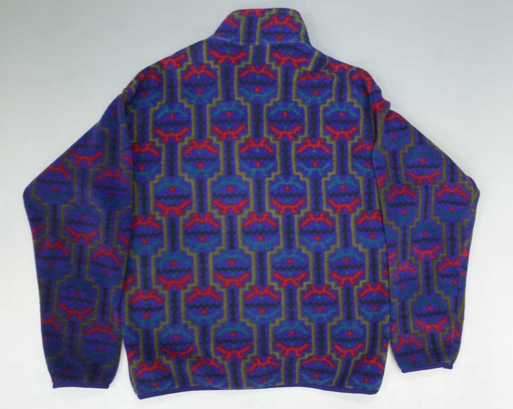 93's patagonia パタゴニア 総柄 snap T MADE IN JAMAICA USED