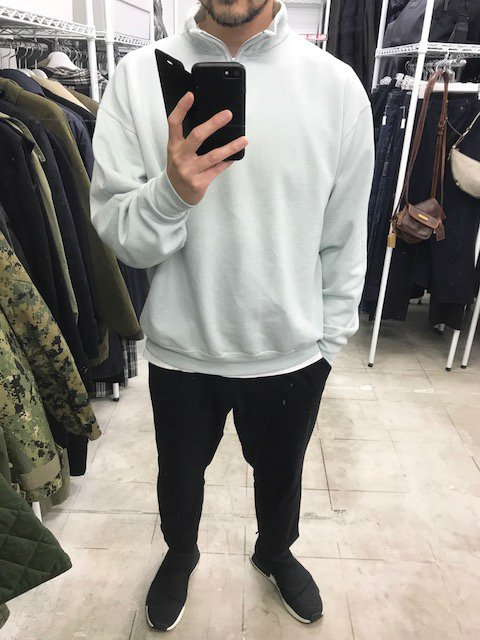 <img class='new_mark_img1' src='//img.shop-pro.jp/img/new/icons34.gif' style='border:none;display:inline;margin:0px;padding:0px;width:auto;' />SOTA JAPAN × SEW UP OVERDYE QUATER ZIP SWEAT tiffany