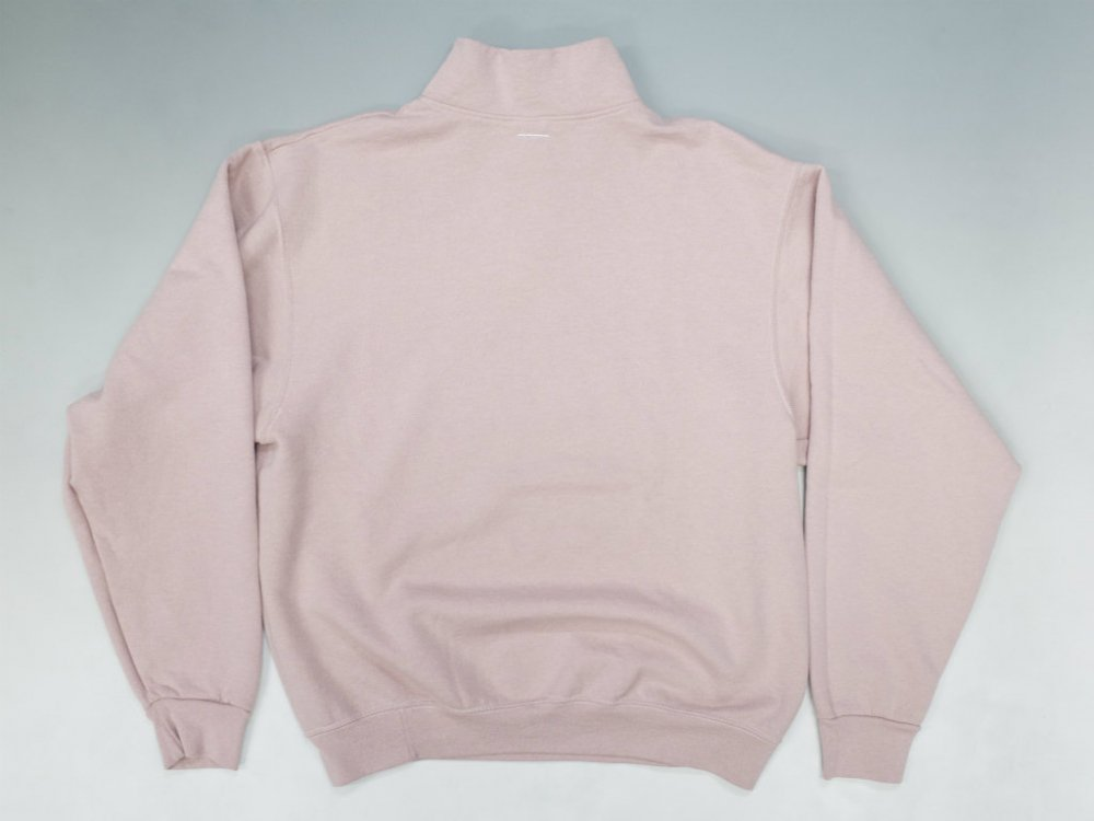 SOTA JAPAN × SEW UP OVERDYE QUATER ZIP SWEAT rose