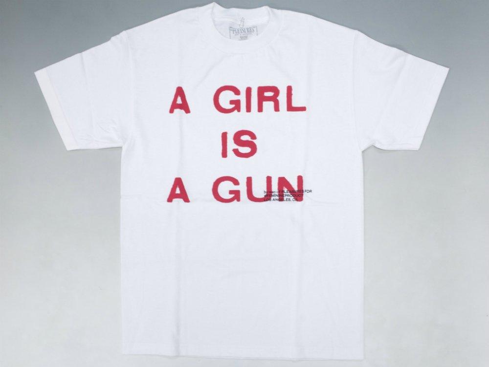 PLEASURES × by way of GIRL IS A GUN Tシャツ