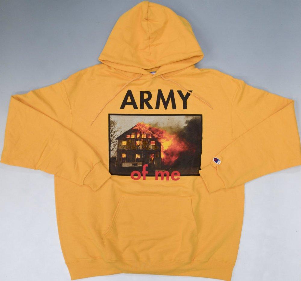 PLEASURES ARMY スウェットパーカ