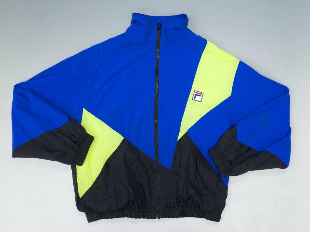 VINTAGE 90's FILA フィラ 切り返し ウィンドブレーカージャケット USED