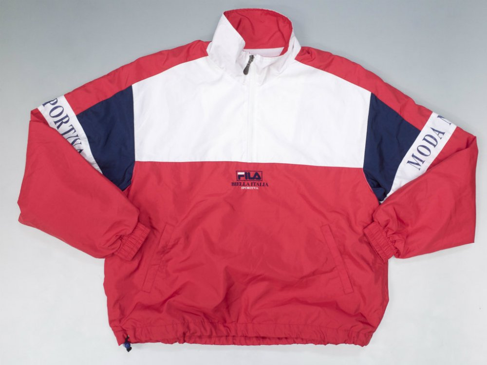 VINTAGE 90's FILA フィラ プルオーバーウィンドブレーカージャケット USED