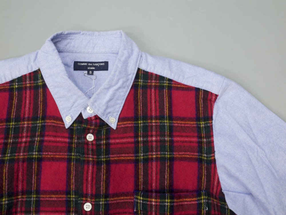 <img class='new_mark_img1' src='//img.shop-pro.jp/img/new/icons15.gif' style='border:none;display:inline;margin:0px;padding:0px;width:auto;' />COMME des GARCONS HOMME 切替しシャツ AD2007 MADE IN JAPAN USED