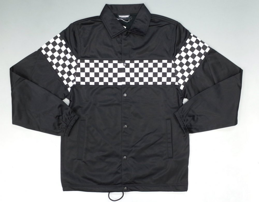 <img class='new_mark_img1' src='//img.shop-pro.jp/img/new/icons20.gif' style='border:none;display:inline;margin:0px;padding:0px;width:auto;' />PLEASURES CHECKERED JACKET ジャージーコーチジャケット