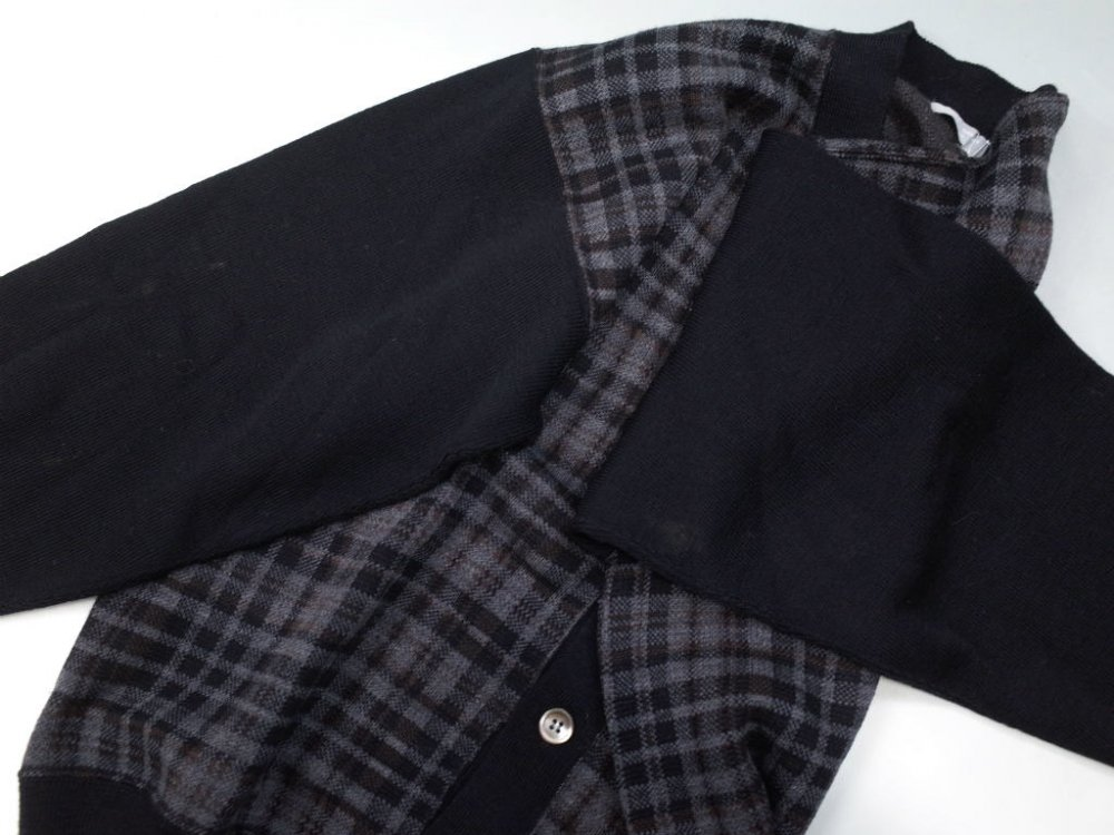 COMME des GARCONS HOMME 切り返しカーディガン MADE IN JAPAN USED