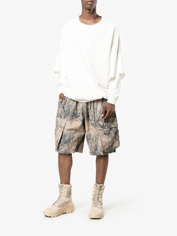 <img class='new_mark_img1' src='//img.shop-pro.jp/img/new/icons15.gif' style='border:none;display:inline;margin:0px;padding:0px;width:auto;' /> YEEZY SEASON 4 Camouflage Shorts  MADE IN ITALY NEWUSED
