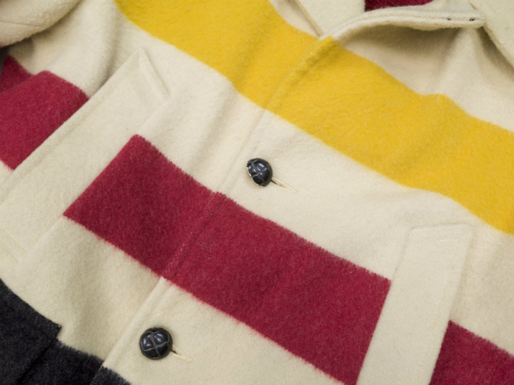 VINTAGE 80'S WOOLRICH ウールリッチ ブランケットコート MADE IN USA