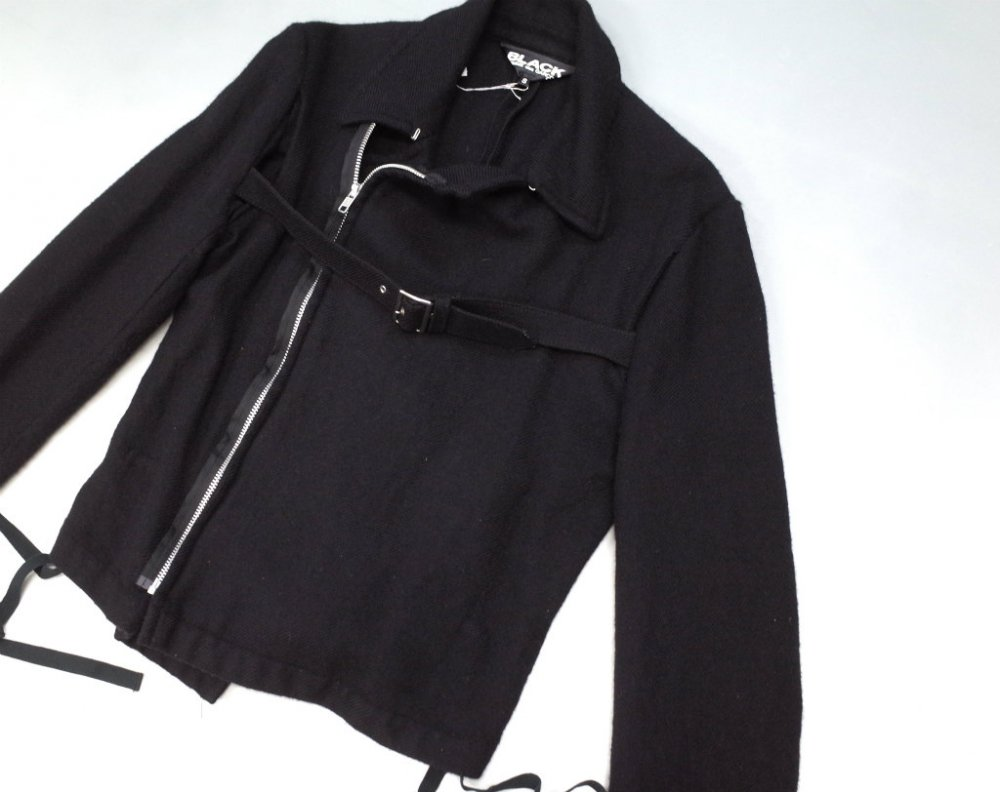 BLACK COMME des GARCONS  ウールライダースジャケット AD2009 MADE IN JAPAN USED