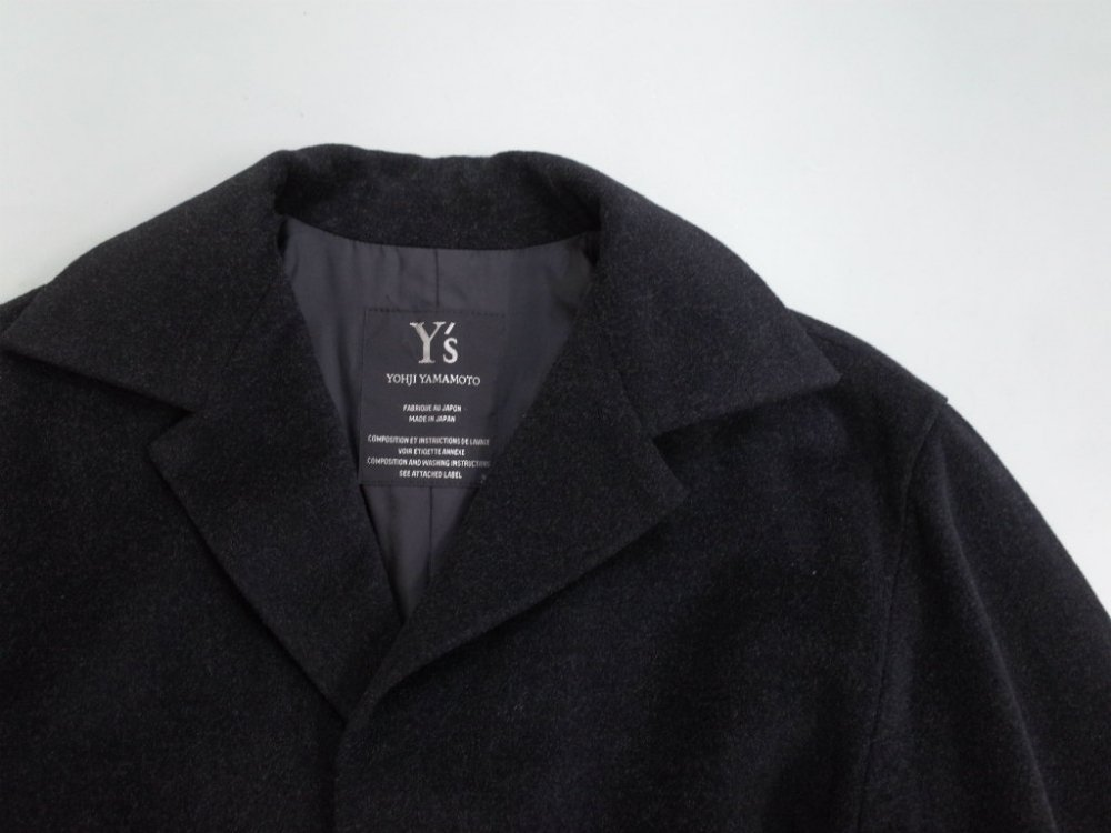 <img class='new_mark_img1' src='//img.shop-pro.jp/img/new/icons15.gif' style='border:none;display:inline;margin:0px;padding:0px;width:auto;' />Y's  YOHJI YAMAMOTO  ウールコート MADE IN JAPAN USED