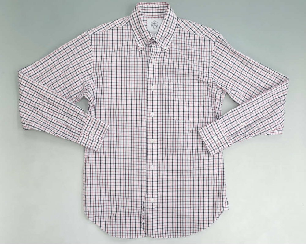 BLACK FLEECE チェック柄 ポプリンシャツ MADE IN USA USED
