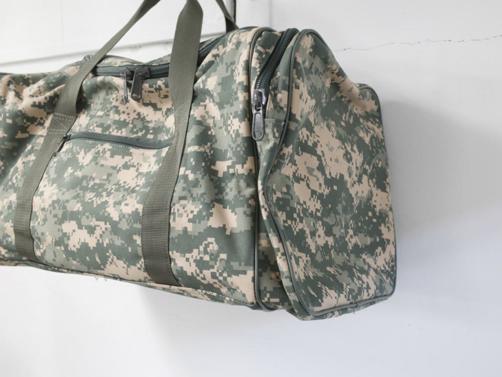 US ARMY FLYING CIRCLE BAGS LARGE SQUARE DUFFEL ACU ボストンバッグ USED