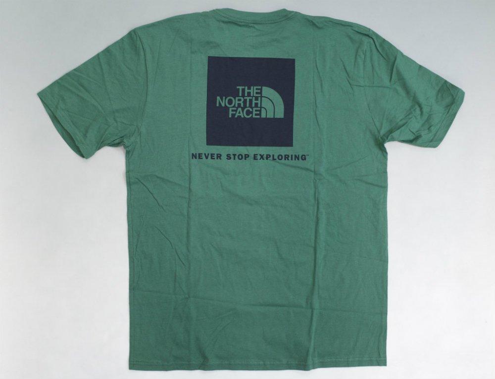 海外限定 THE NORTH FACE ノースフェイス  Box Logo Tシャツ green