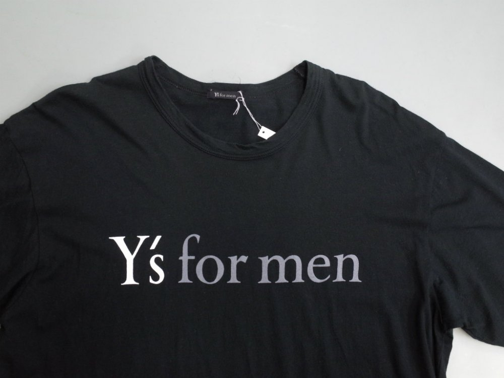 <img class='new_mark_img1' src='//img.shop-pro.jp/img/new/icons15.gif' style='border:none;display:inline;margin:0px;padding:0px;width:auto;' />Y's for men  YOHJI YAMAMOTO ロゴプリント Tシャツ MADE IN JAPAN  USED