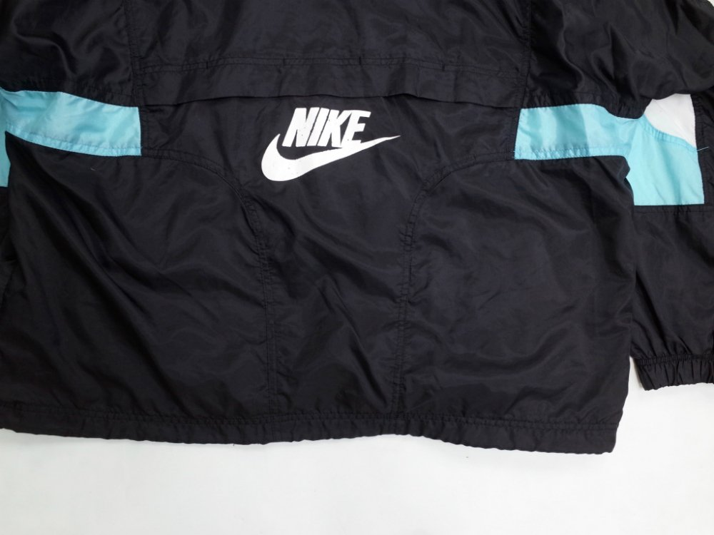VINTAGE 90's NIKE 袖ロゴ ナイロンブルゾン USED