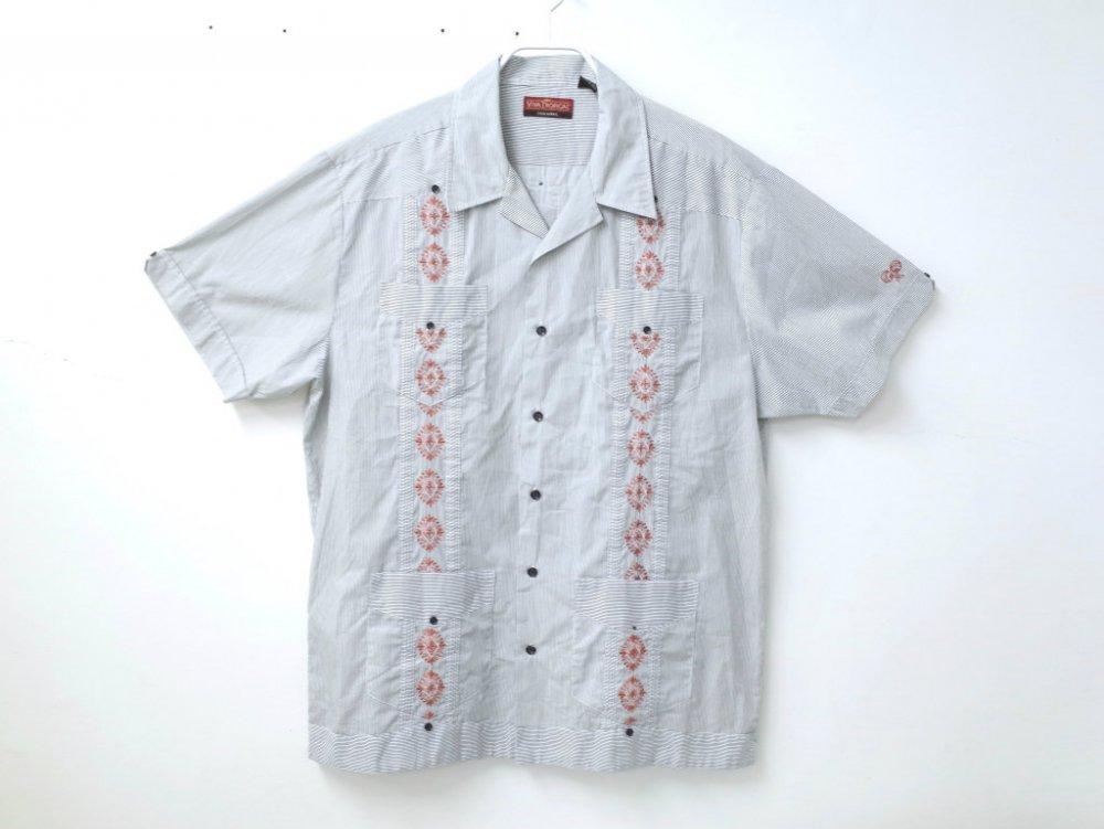 CUBA SHIRT  オープンカラー 刺繍 シャ...