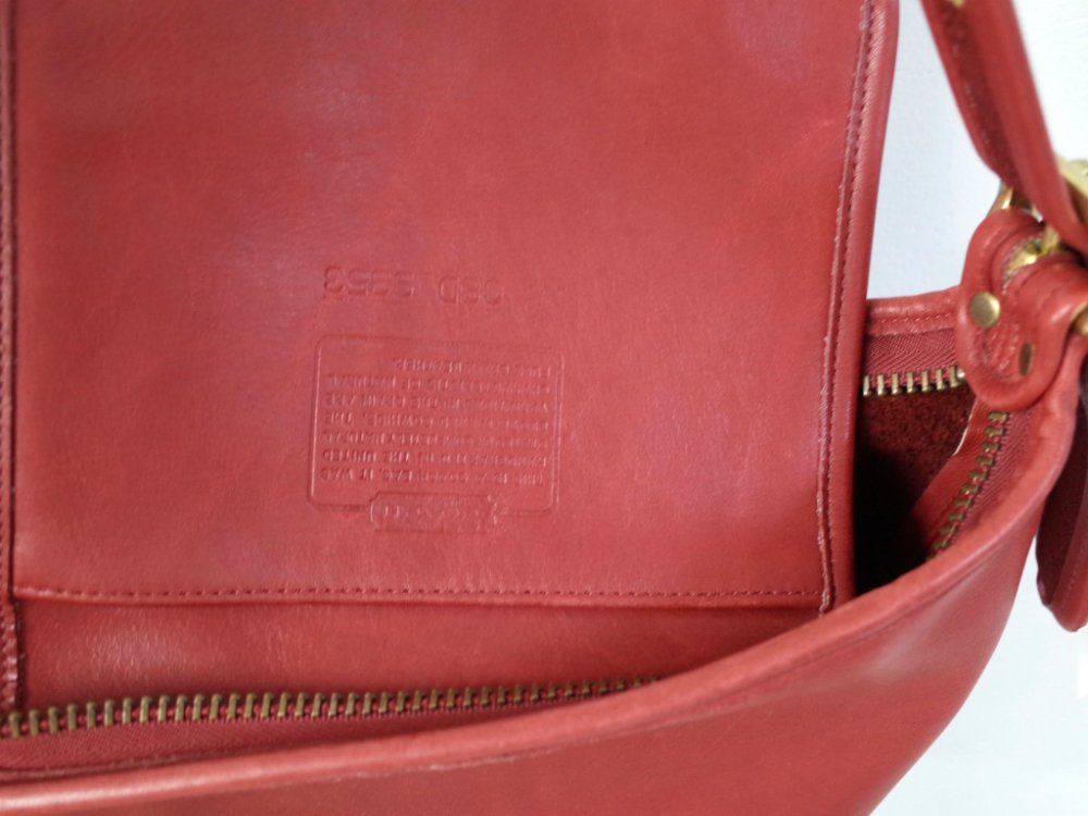 OLD COACH  コーチ レザー  ミニショルダー バッグ   red MADE IN USA USED
