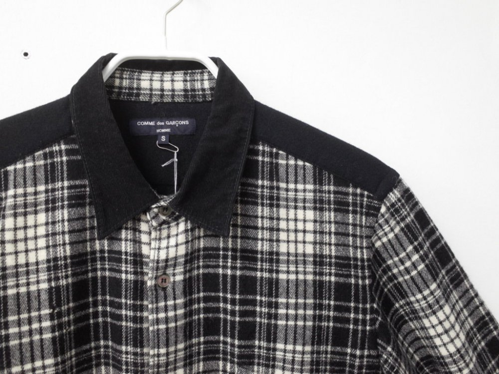 COMME des GARCONS HOMME 切替しシャツ AD2011 MADE IN JAPAN USED