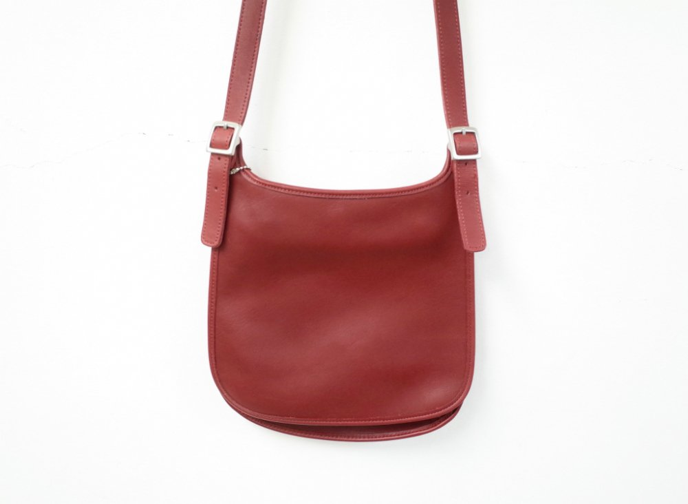 COACH オールド コーチ レザー ミニショルダー バッグ red MADE IN USA USED